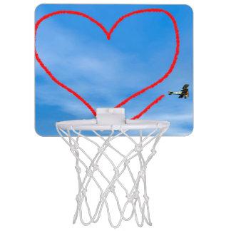 Herzform vom biplan Rauche - 3D übertragen Mini Basketball Ring