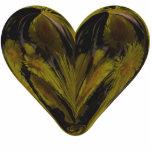 Herzfrühlings-Blumen Fotoskulptur Button