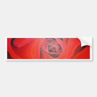 Herzgeformte Valentine-Rote Rose Autoaufkleber