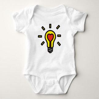 Herziger ❤︎ Glühlampe-Baby-Bodysuit: Gelb Baby Strampler