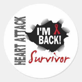 Herzinfarkt des Überlebend-7 Stickers