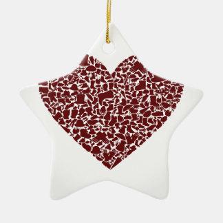 Herzkleidung Keramik Ornament