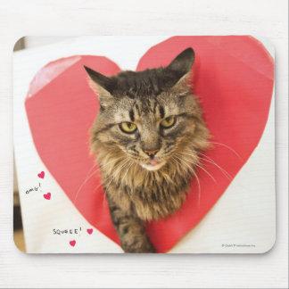 Herzklopfen-Katze Mousepad