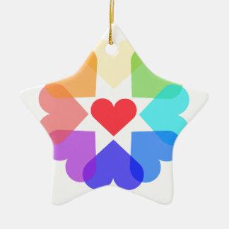 Herzkreis Keramik Ornament