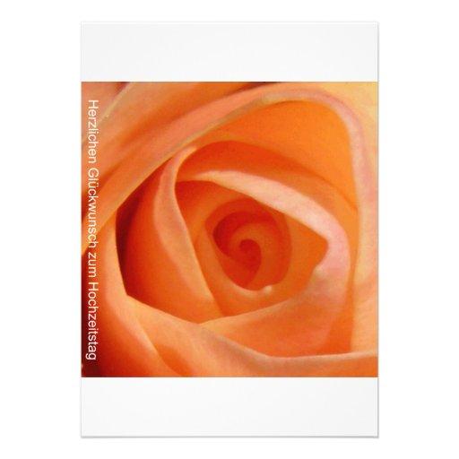 Herzlichen Glückwunsch zum Hochzeitstag Individuelle Einladungskarte