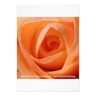 Herzlichen Glückwunsch zum Hochzeitstag Einladungskarte