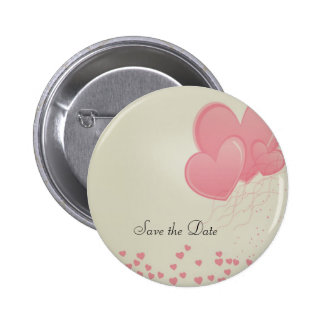 Herzlicher Herz-Save the Date Knopf Runder Button 5,1 Cm