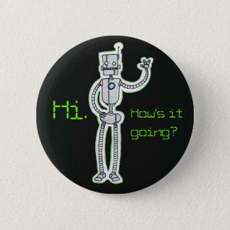 Herzlicher Roboter Runder Button 5,7 Cm