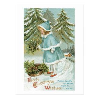 Herzliches Weihnachten wünscht Vintages Retro Postkarte
