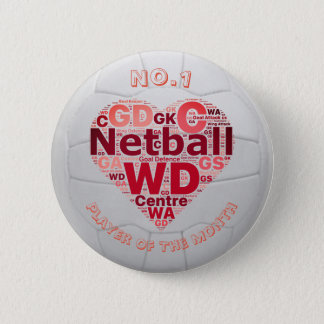 Herznetball-Spieler-Belohnungs-Button-Abzeichen Runder Button 5,1 Cm