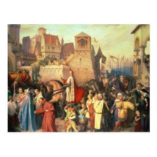 Herzog Leopold das prachtvolle betritt Wien Postkarte