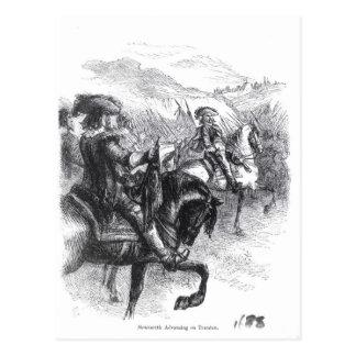 Herzog von Monmouth voranbringend auf Taunton Postkarte