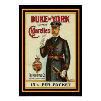 Herzog von York-Zigaretten-Plakat 13 x 19 Poster