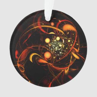 Herzschlag-abstrakter Kunst-Acryl-Kreis Ornament