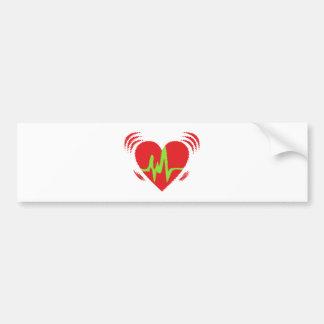 Herzschlag heart beat autoaufkleber