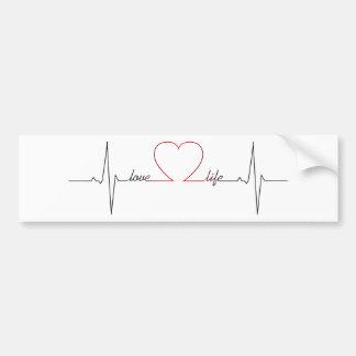 Herzschlag mit inspirational Zitat des Liebelebens Autoaufkleber