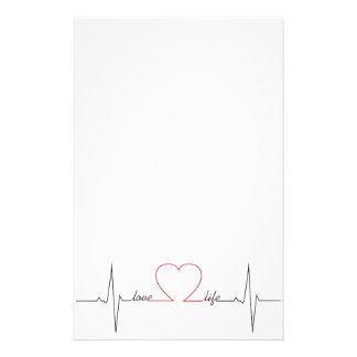 Herzschlag mit inspirational Zitat des Liebelebens Briefpapier