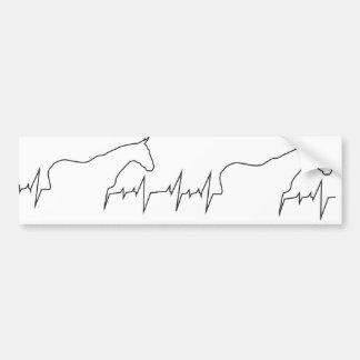Herzschlag-Pferd-und-Körper Autoaufkleber
