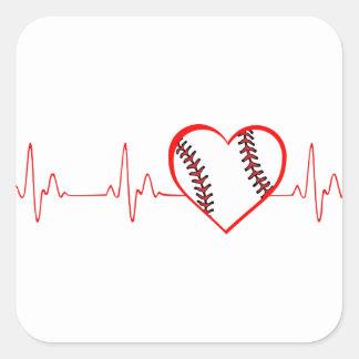 Herzschlag Quadratischer Aufkleber