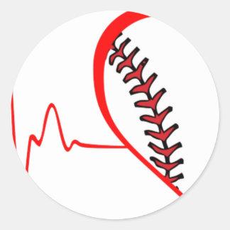Herzschlag Runder Aufkleber
