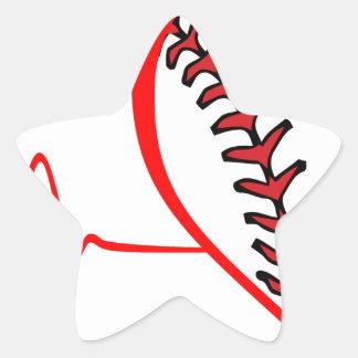 Herzschlag Stern-Aufkleber
