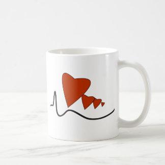 Herzschlag-Tasse Kaffeetasse