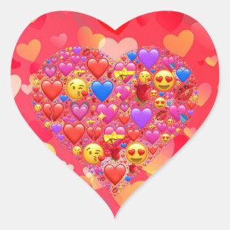 Herzsmiley Herz-Aufkleber