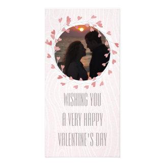 Herzwreath-Valentinstag-Rosa Bild Karte