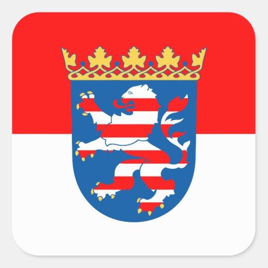 Hessen Flagge Quadratischer Aufkleber
