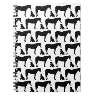 Hest Og Hund Notizbuch Notizblock