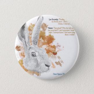 Hester, Hase-Dämon von seinen dunklen Materialien Runder Button 5,7 Cm