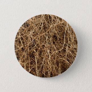 Heu des natürlichen Hintergrundes Runder Button 5,7 Cm