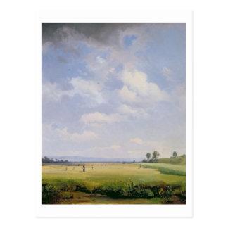 Heuernte, 1838 (Öl auf Leinwand) Postkarte