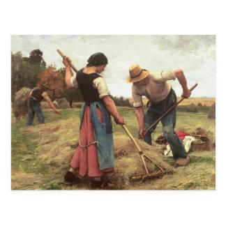 Heuernte, 1880 postkarte