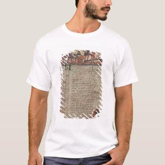 Heuernte und Pflügen, von einem Kalender T-Shirt