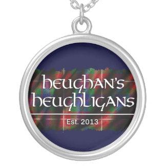 Heughligans Logo (DK-Blau) Halskette Mit Rundem Anhänger
