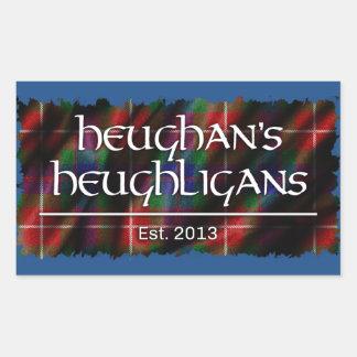 Heughligans Logo Rechteckiger Aufkleber