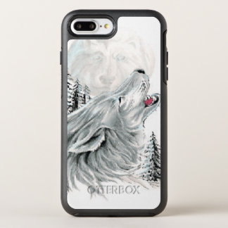 Heulen am Gesicht im Mond OtterBox Symmetry iPhone 8 Plus/7 Plus Hülle