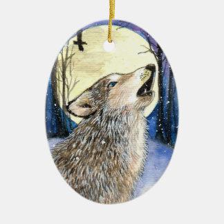 Heulen - Wolf-Kunst Keramik Ornament
