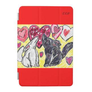 Heulender Valentinsgrußwolf iPad Mini Hülle