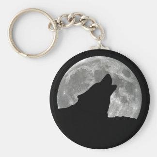 heulender Wolf Schlüsselanhänger