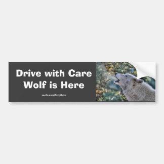 Heulenweiße grauer Wolf-Tier-Foto-Sicherheit Autoaufkleber