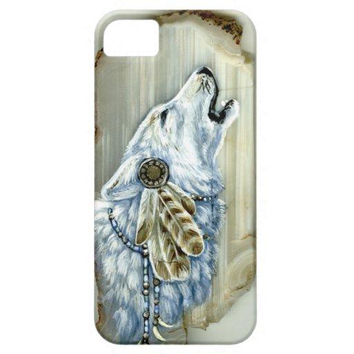 Heulenweißer Wolf Hülle Fürs iPhone 5