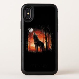 Heulenwolf an Sonnenuntergang OtterBox iPhone X OtterBox Symmetry iPhone X Hülle