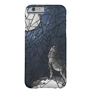 Heulenwolf-Buntglas-Telefon-Kasten Barely There iPhone 6 Hülle