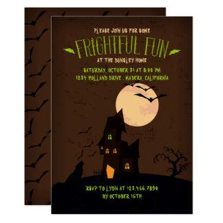 Heulenwolf-Halloween-Party-Einladung Karte