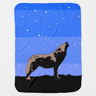 Heulenwolf im Winter Kinderwagendecke