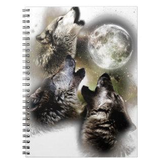 Heulenwolf-Mond Notizblock