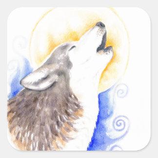 Heulenwolf Quadratischer Aufkleber