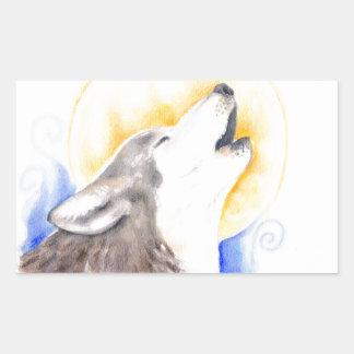 Heulenwolf Rechteckiger Aufkleber